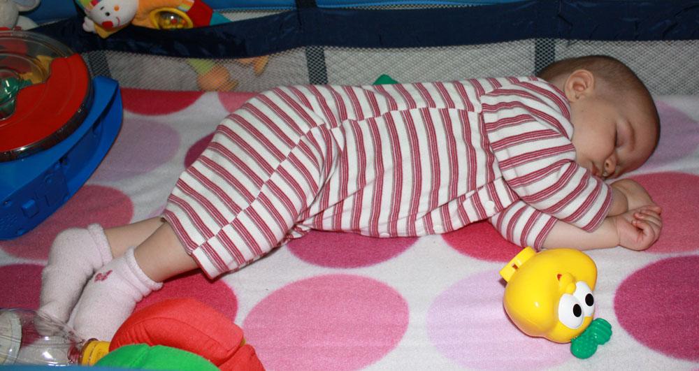 Mack 7 months old sleeping