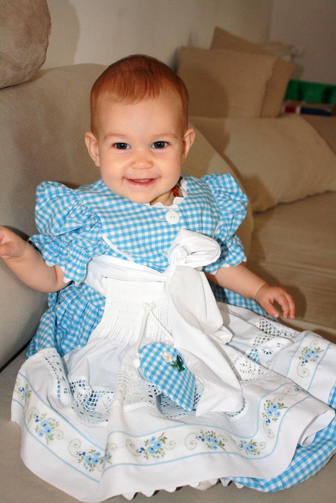 Mackenzie 8 months dirndl sitting