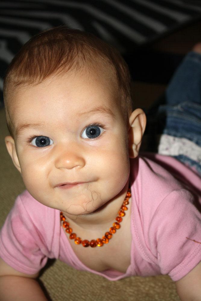 Mackenzie 8 months furry mouth
