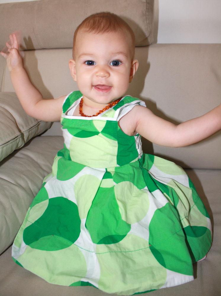Mackenzie 8 months green dress