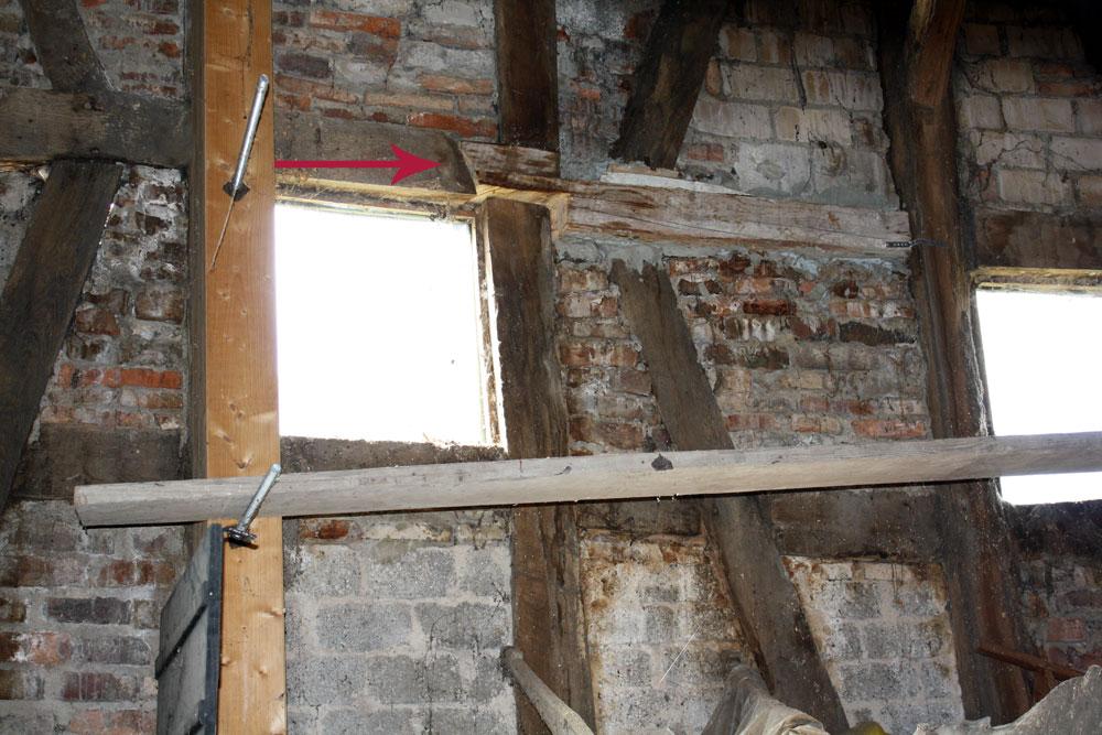 barn wall repair after