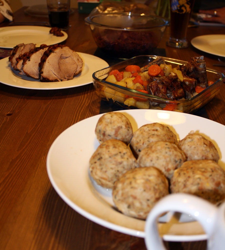 German Bread Dumplings Recipe — Dishmaps