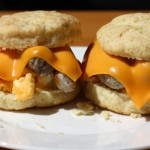 Sausage, Egg & Cheese Biscuits — Yummy Breakfast Sandwiches