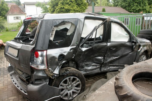 land rover freelander accident right side