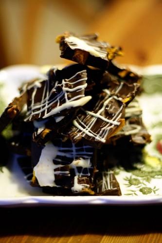 Chocolate Mango Bark