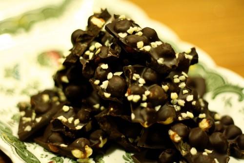 Dark Chocolate Hazelnut Bark