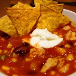 Simple chicken taco chili