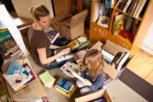get rid of books