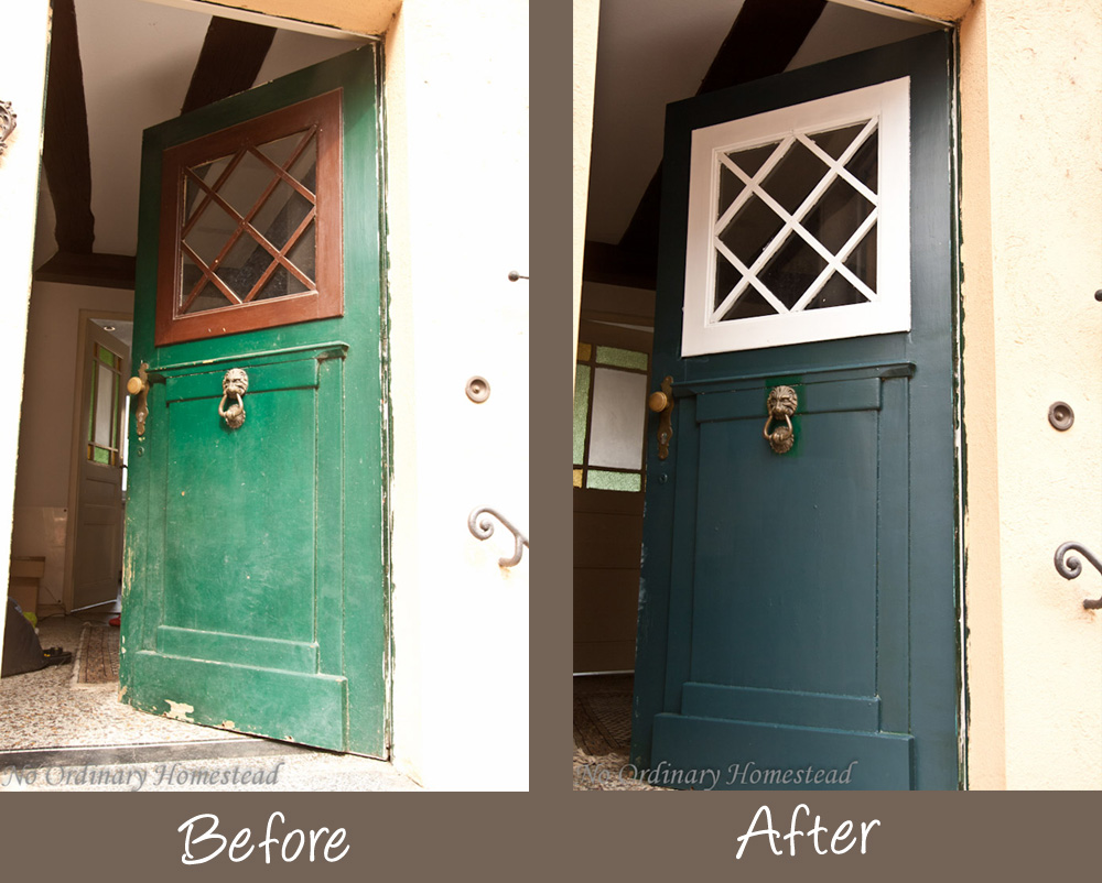 Green with envy about freshly painted doors - No Ordinary Homestead