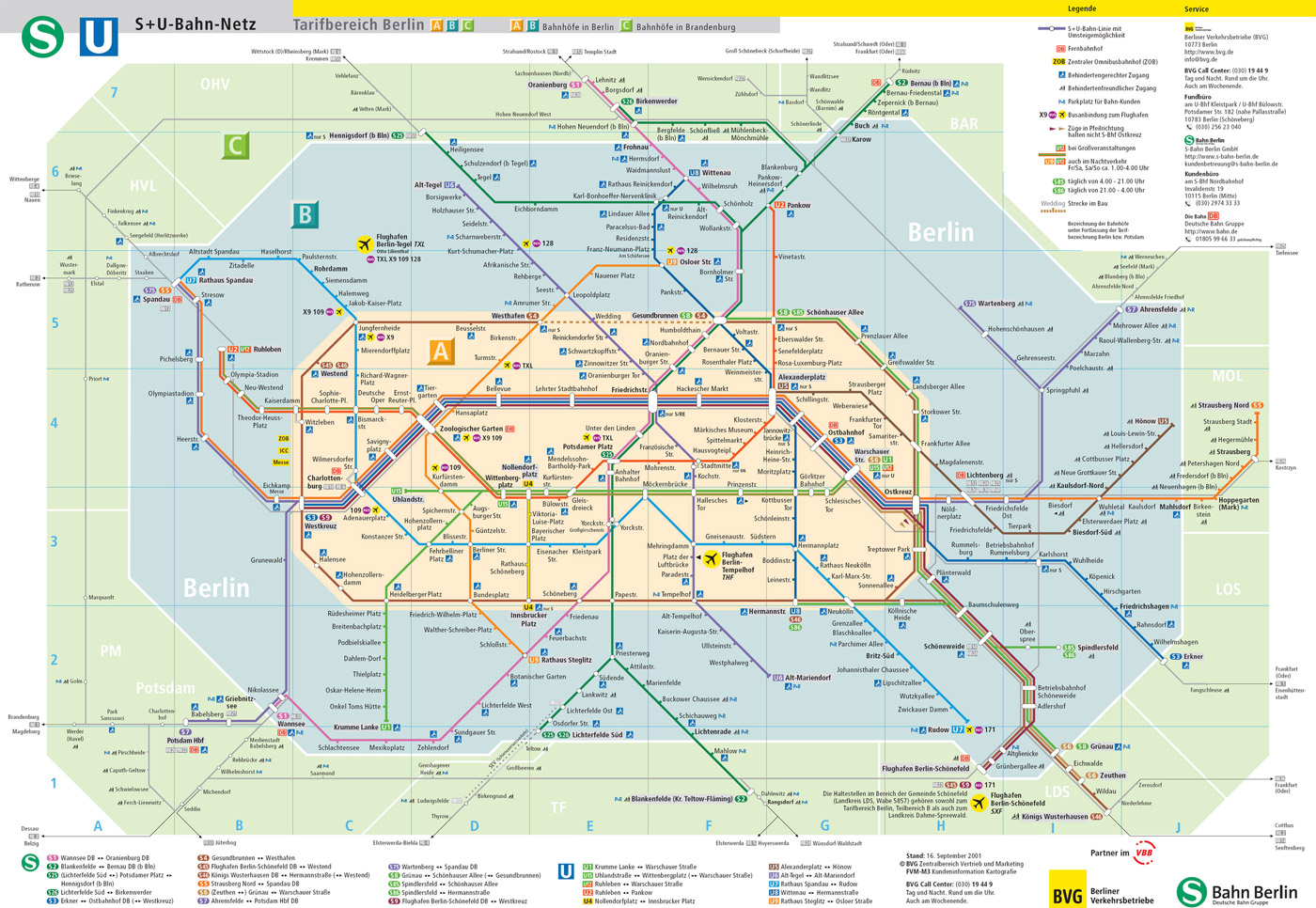 Berlin Train Map