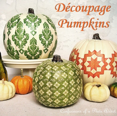 decoupage-pumpkins