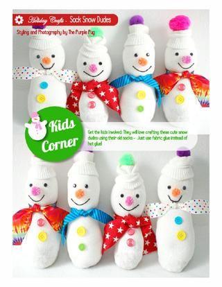 sock-snowmen