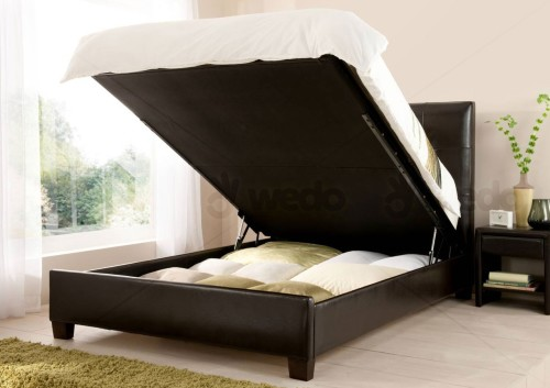 The Storage Area Of An Ottoman Bed Is Very Easy To Access Mattress Basically Rests On Top Base E And Can Easily Be Lifted Up By