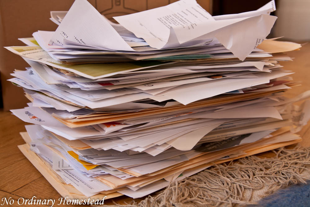 clearing out the filing cabinet - no ordinary homestead paper filing cabinet