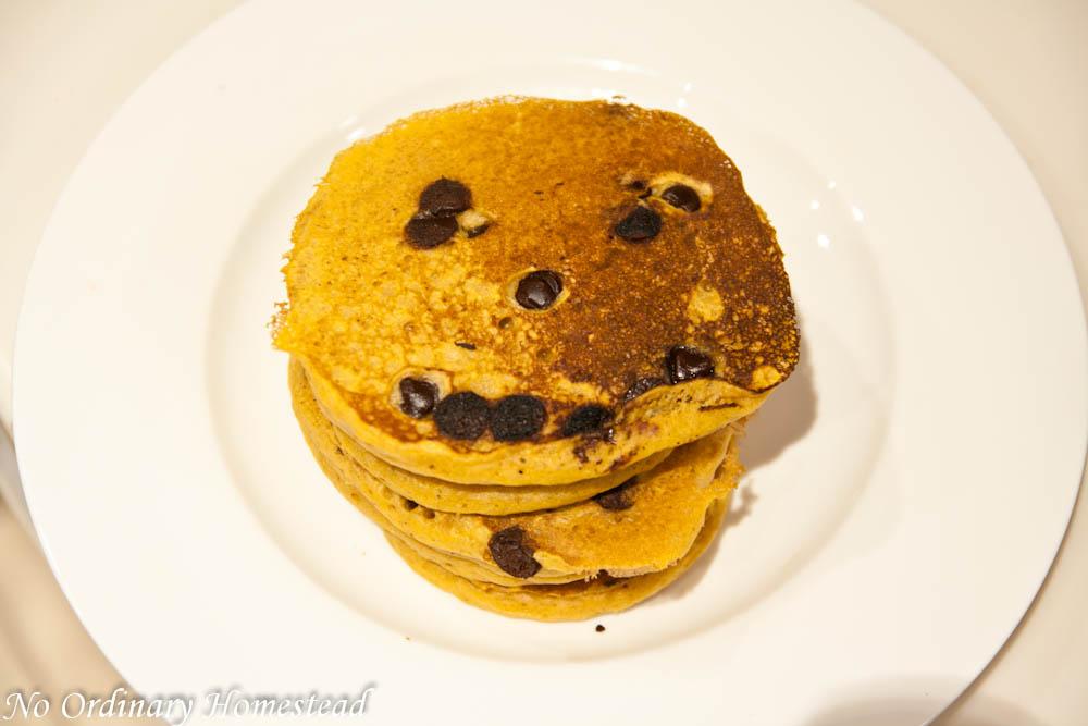 Jack-o-Lantern Pancakes with TruMoo Orange Scream Milk