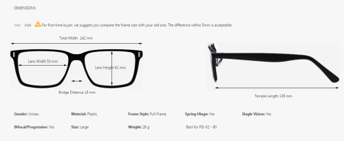 What Eyeglass Frame Size Am I : Glasses from Firmoo Easy as Can Be