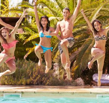 Group pool photo