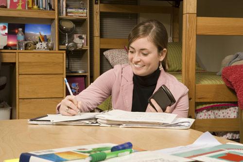 Female student in dorm