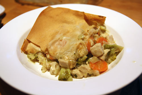 Broccoli & Carrots Chicken Pot Pie