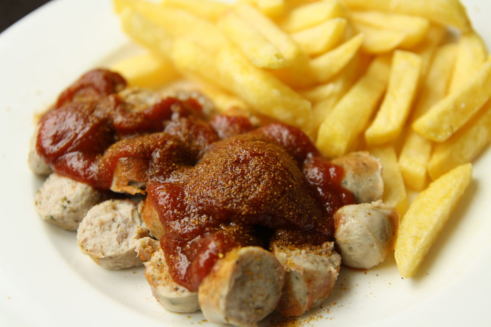 A simple currywurst
