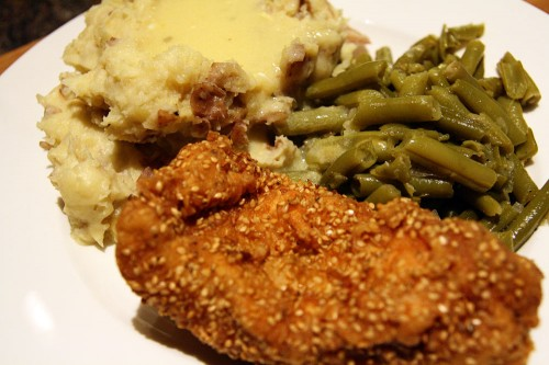 Sesame Seed Chicken & Gravy Dinner