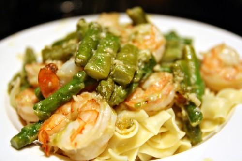 Sprimp & Asparagus Pasta