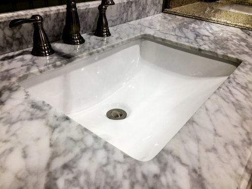 how to install undermount bathroom sink to granite how to install a bathroom sink no ordinary homestead 26395