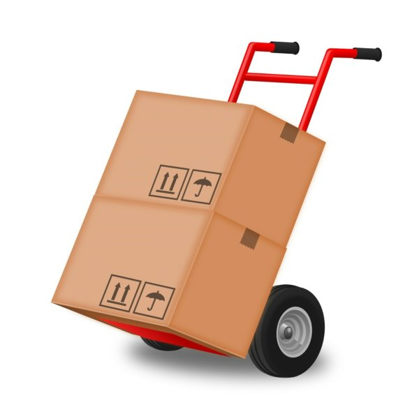 stock moving boxes on dolly graphic