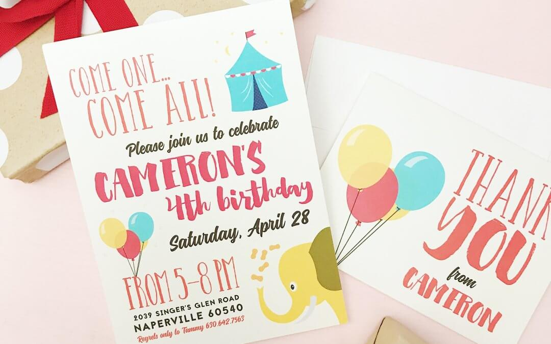 Customized Birthday Invites with ZERO Hassle!